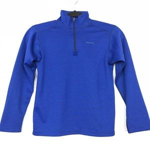 Patagonia Capilene Pullover Blue Stripe Youth M/10